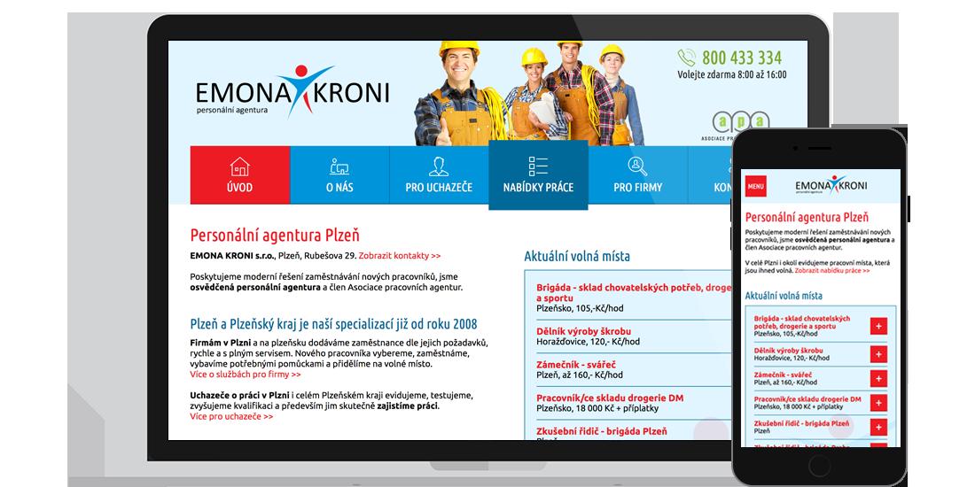 Emona Kroni - stránky personální agentury