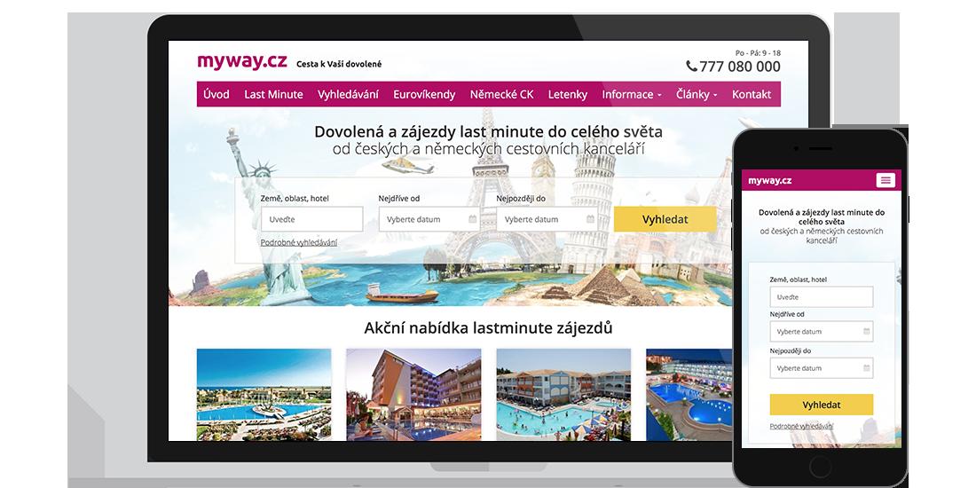 myway.cz - nabídkový systém cestovní agentury