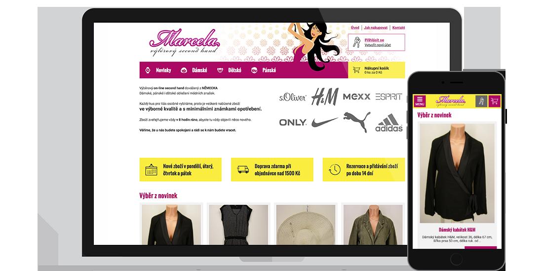 Marcela - e-shop s oblečením a doplňky