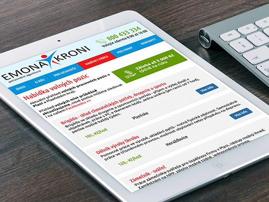 Emona Kroni - web personální agentury