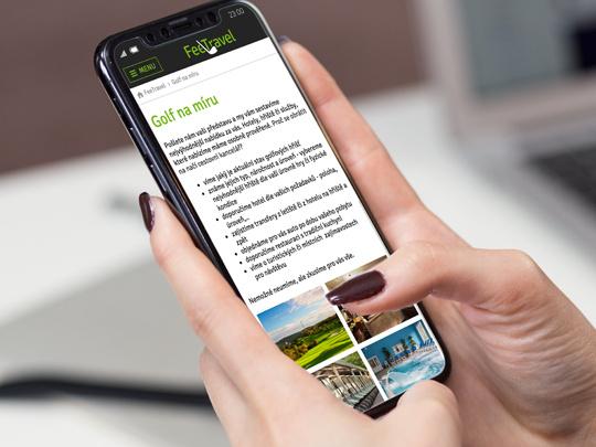 Responzivní chování - mobilní i tabletové zobrazení