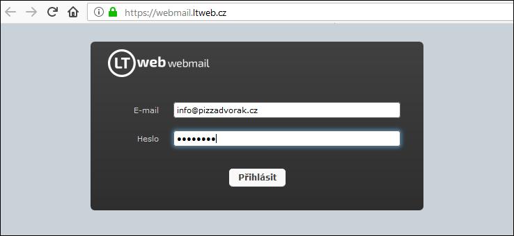 LTweb webmail přihlášení