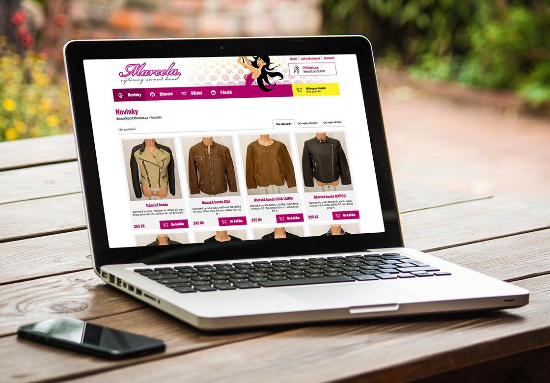 E-shop s oděvy Marcela