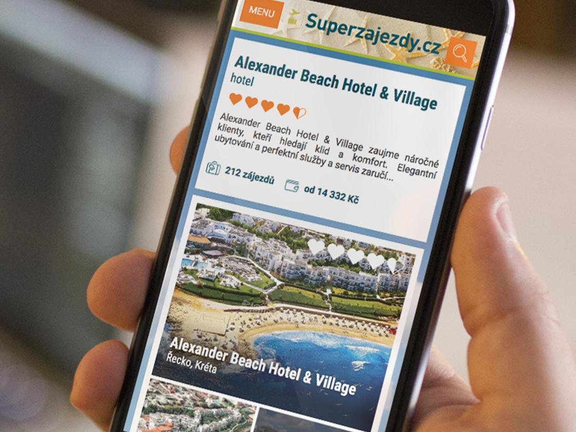 Superzajezdy.cz - systém pro cestovní agenturu